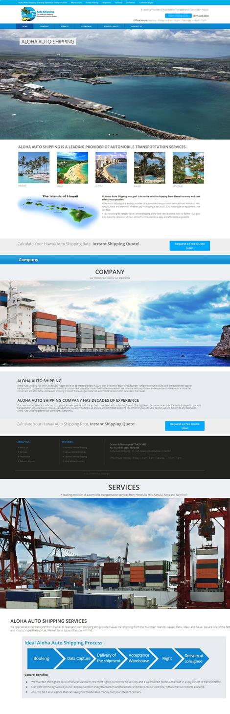 Automobile Transportation Website Design