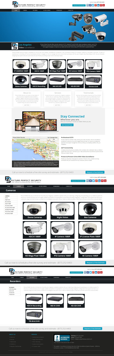 Website Design for Security & Video Surveillance