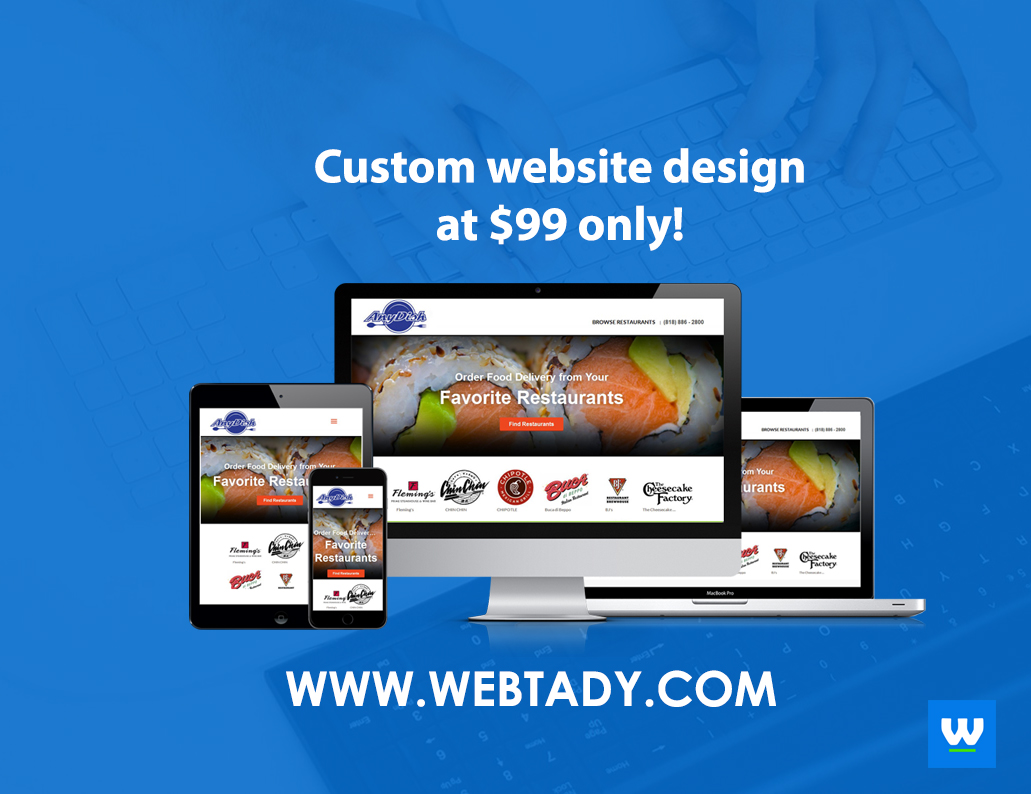 webtady custom website design advertisement