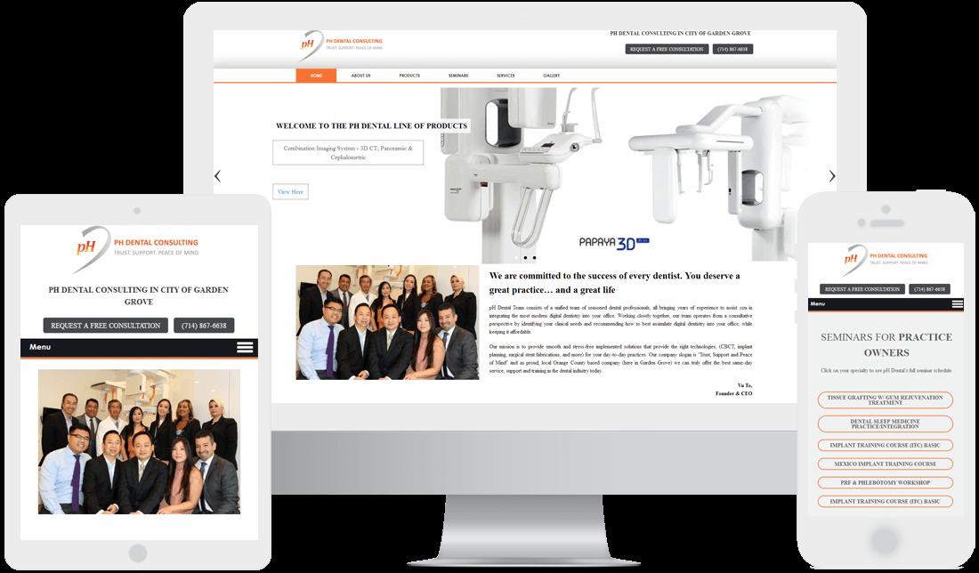 dental website design examples by webtady