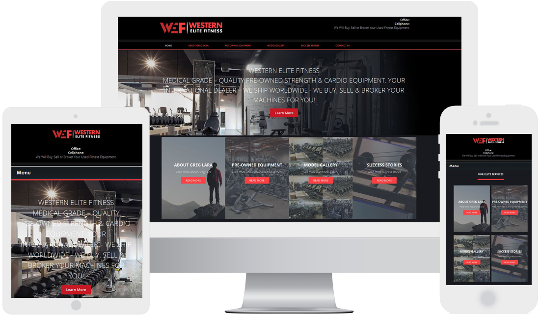 Fitness Website design by Webtady