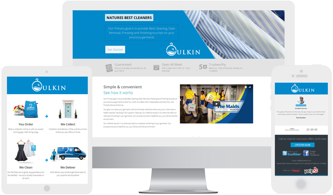 house cleaning service web design at low cost