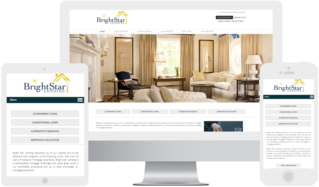 Small business website design service for business owners for Interior design business website