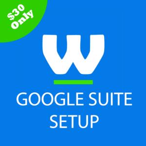 Google suite setup webtady