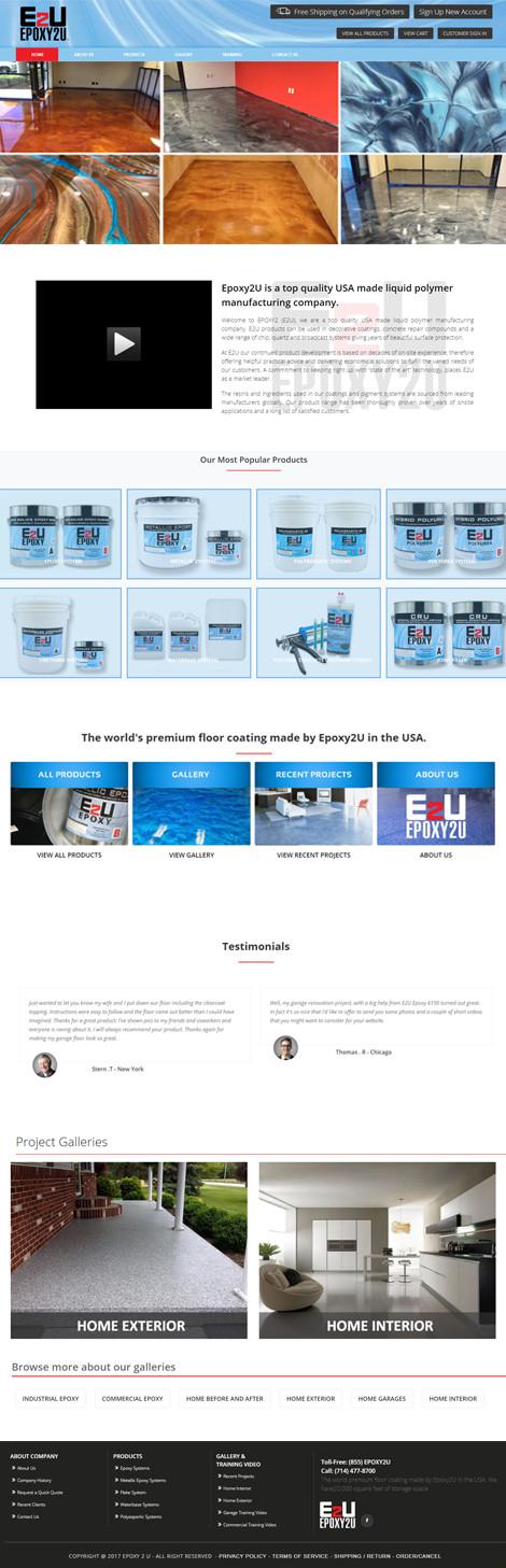 Epoxy2U Custom Website Design