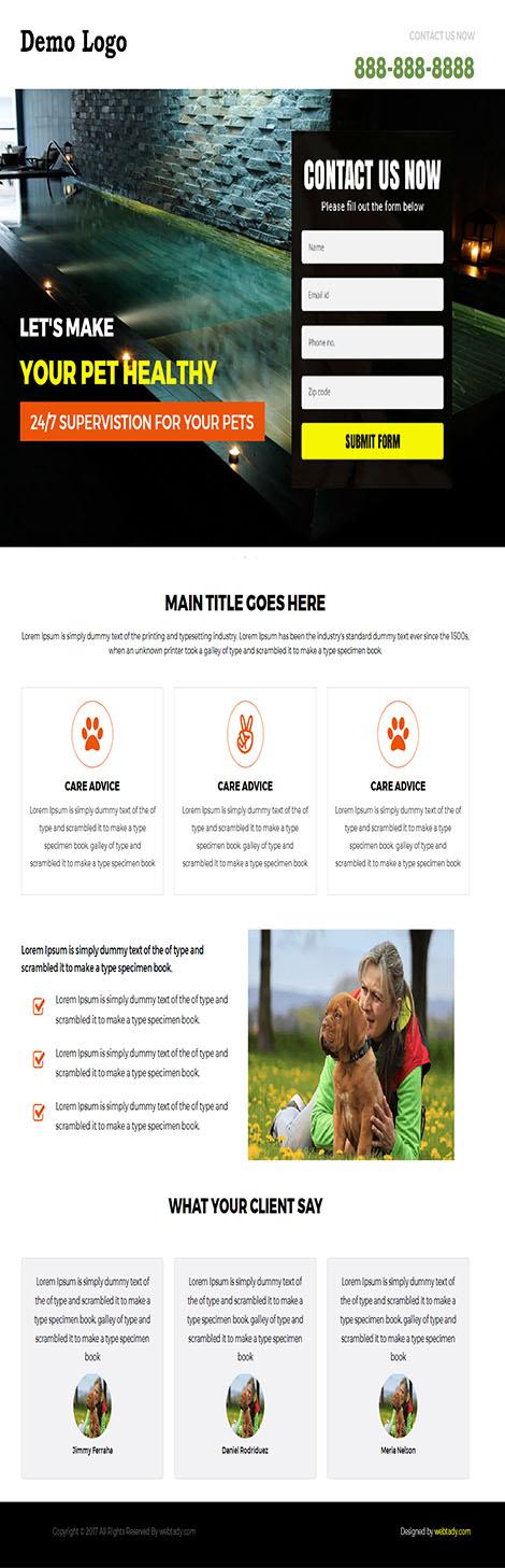 Pet Service Landing Page