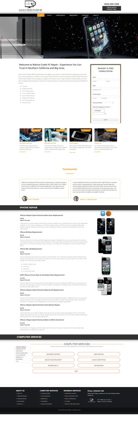 PC Repair Custom Website Design