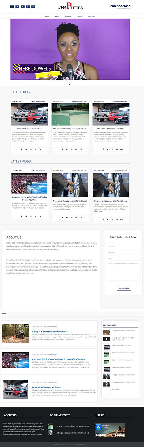 I Am Pheebs Blog Design